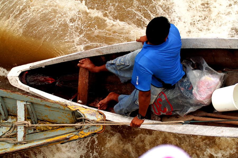 Brésil, vie sur le fleuve Amazone, janvier 2006