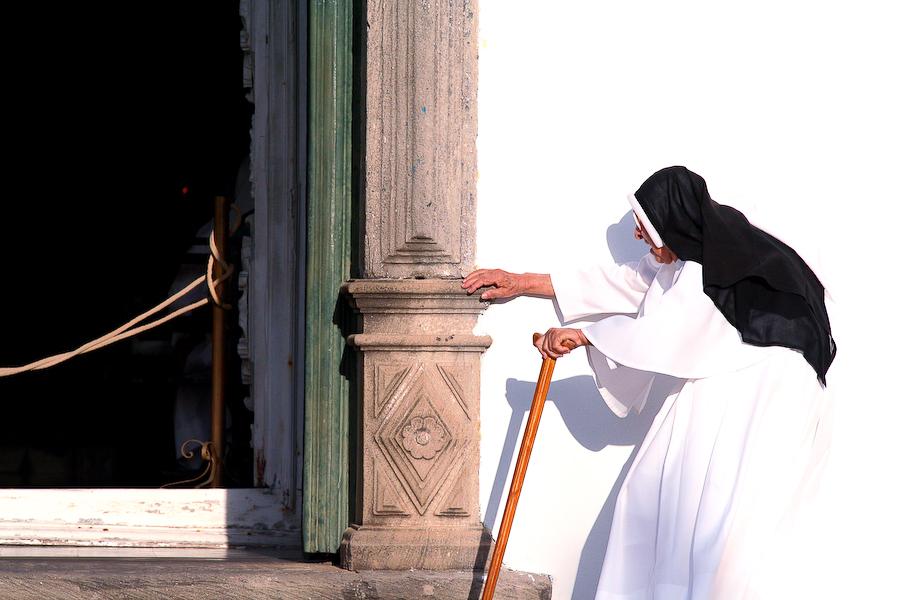 Brésil, Olinda, religieuse, janvier 2006