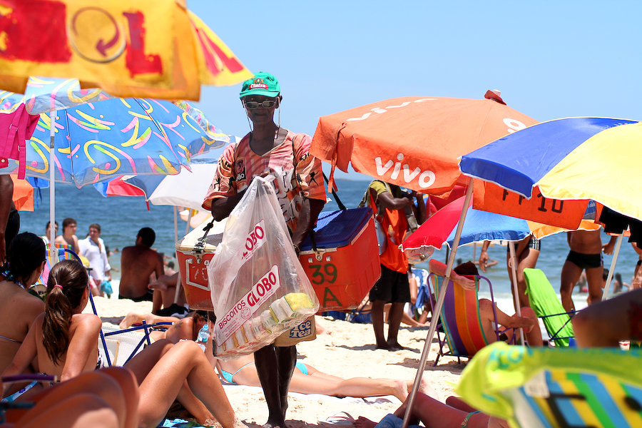 Brésil, Rio, Plage d'Ipanema, décembre 2005