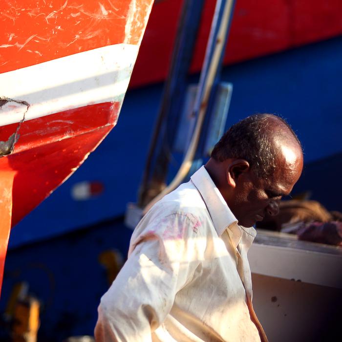 Sri Lanka, côte méridionale, pêcheur, août 2006