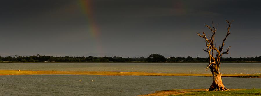 Birmanie, région de Mandalay, pont d'U-Bein, juillet 2009