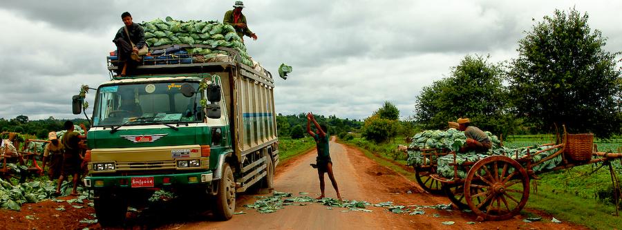 Birmanie, route du Lac Inlé,