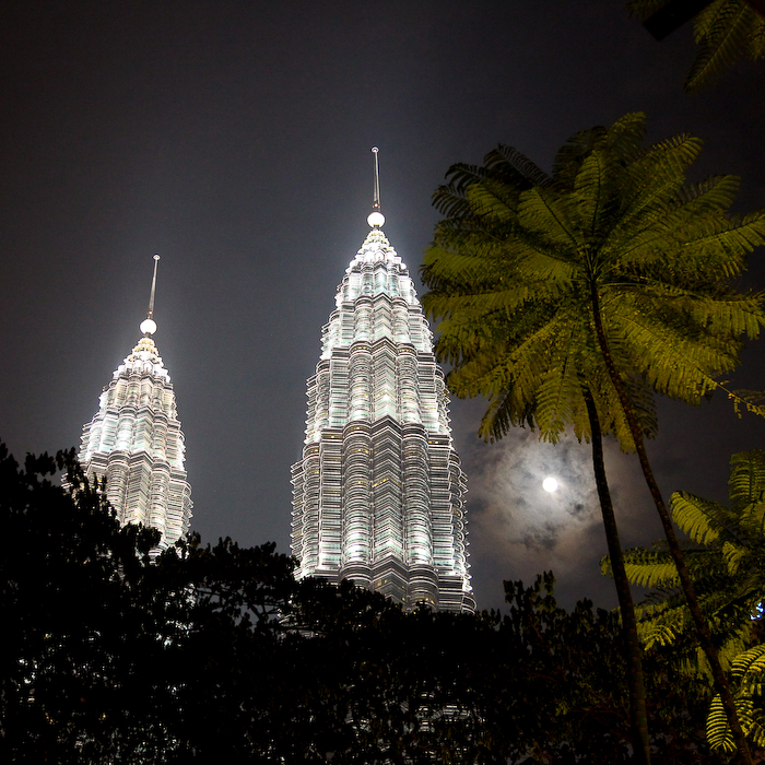 Malaysie, Kuala Lumpur, tours Petronas, août 2009