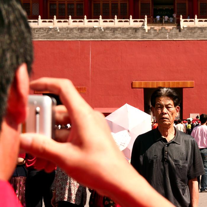 Chine, Beijing, Cité interdite, le touriste chinois ! mai 2007