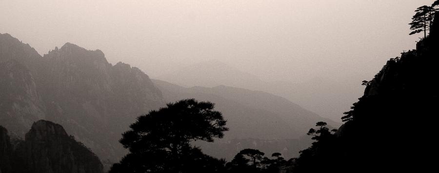 Chine, montagnes du Huangshan, mai 2007