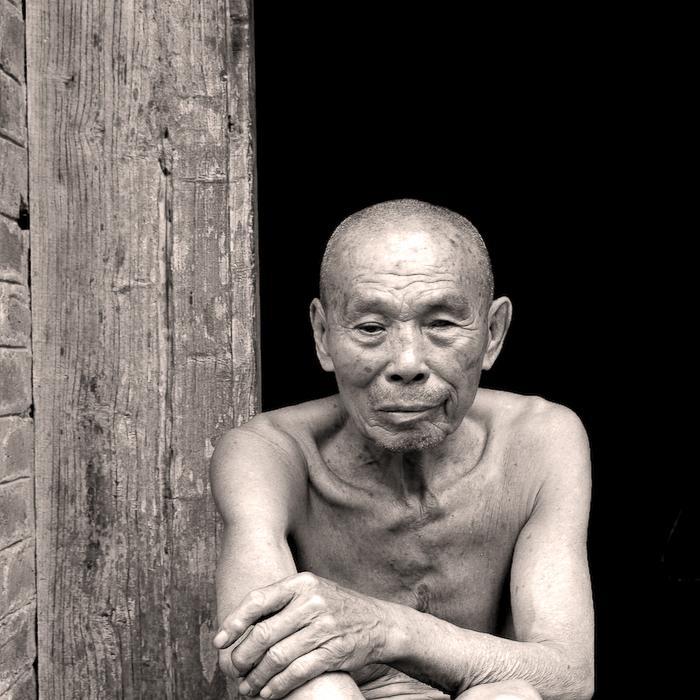 Chine, Guillin, le mari de la centenaire !, mai 2007