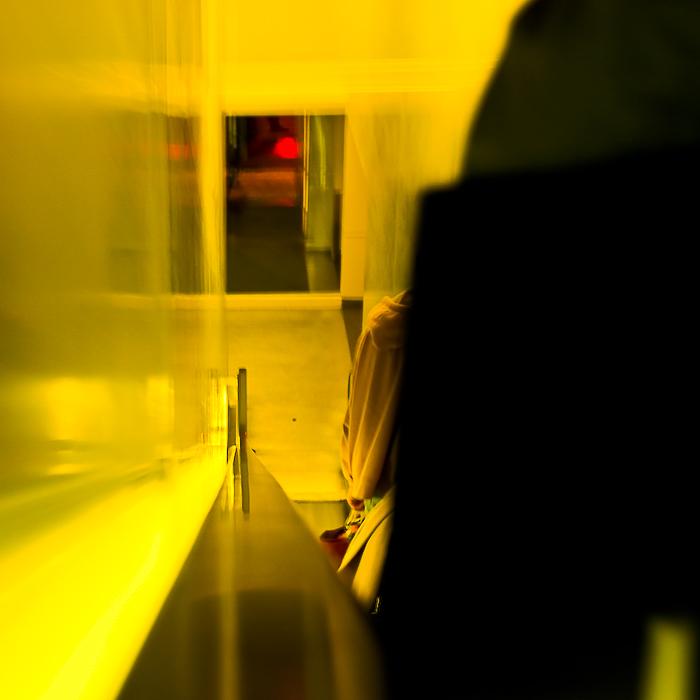 USA, New York, l'escalator, novembre 2010