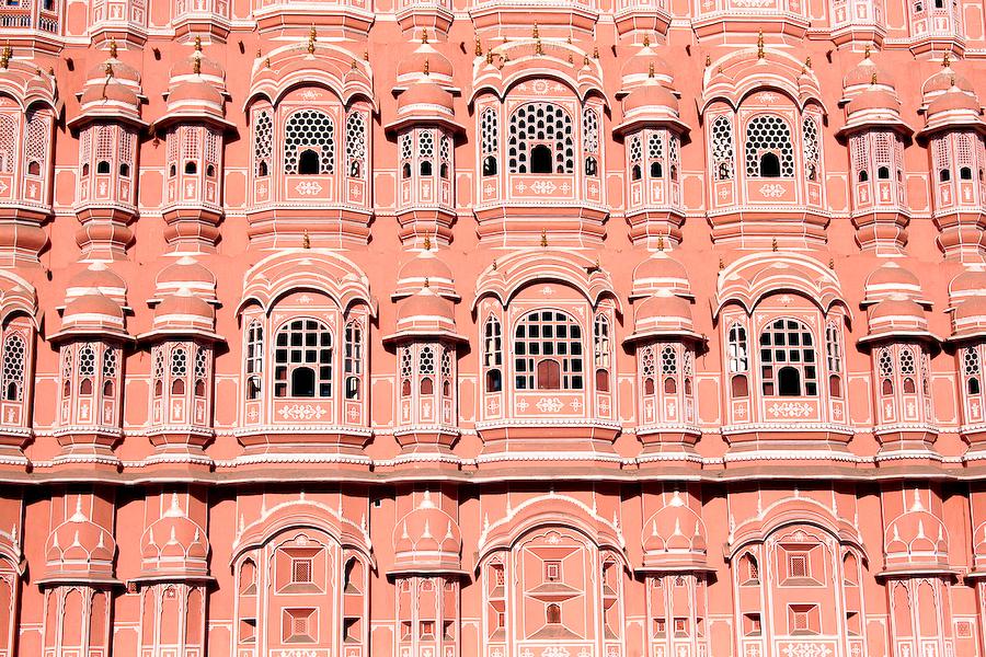 Inde, Rajasthan, Jaipur, Palais des vents, février 2008