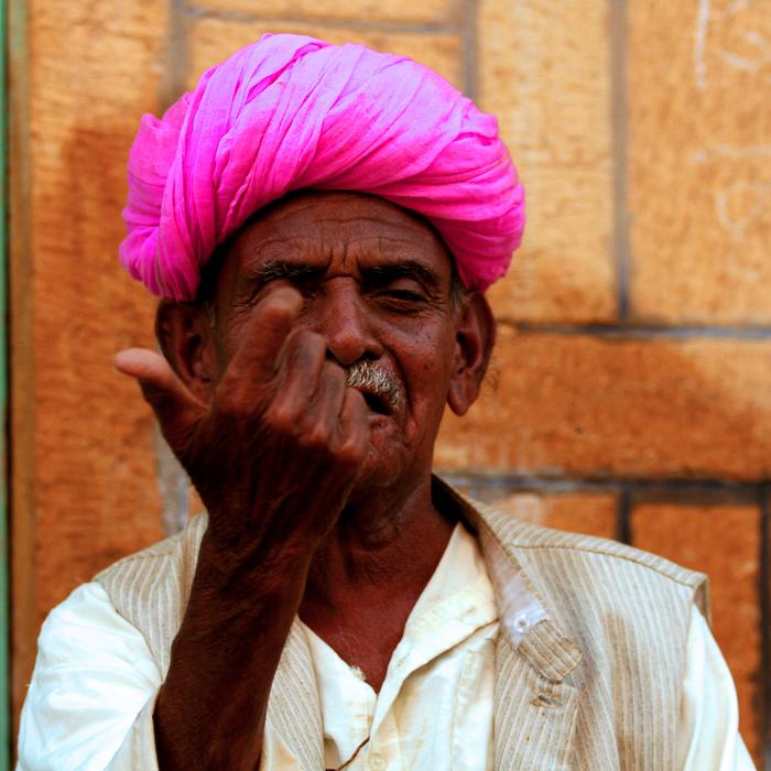 Inde, Rajasthan, Jaipur, portrait, mars 2008