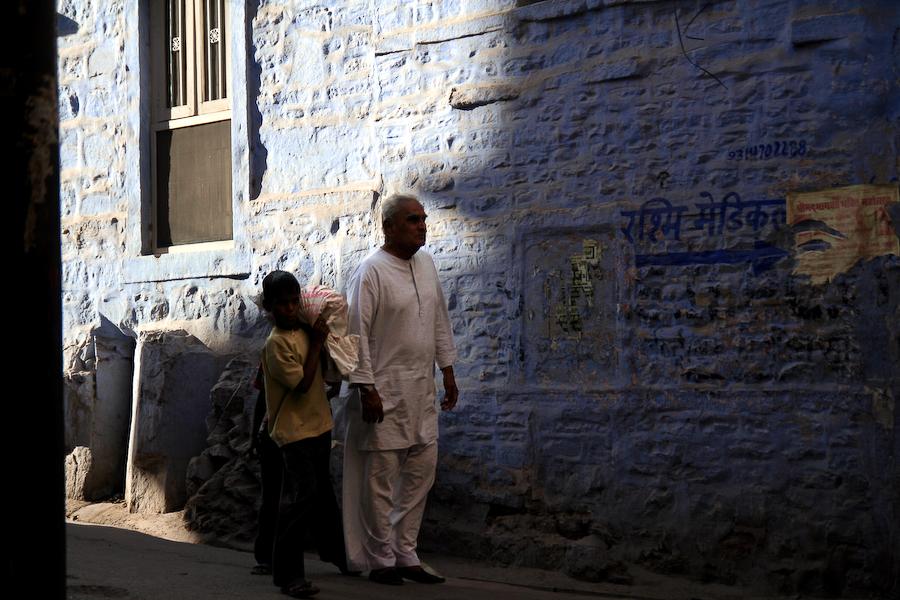 Inde, Rajasthan, ruelle de Jodhpur, mars 2008