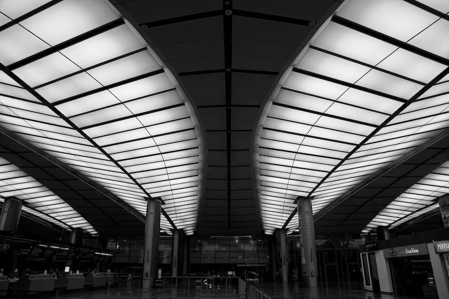 Singapour, aéroport, août 2010
