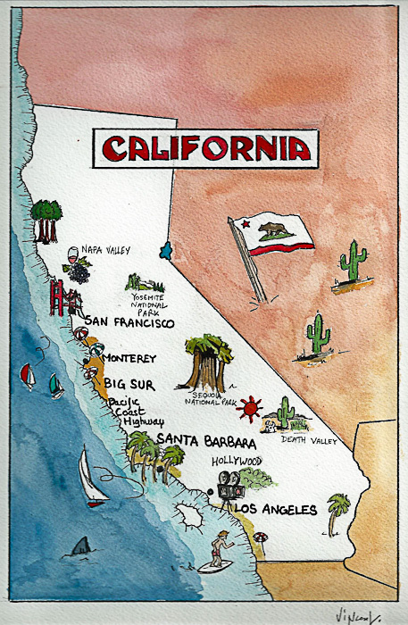 Aquarelle #1 - Californie
