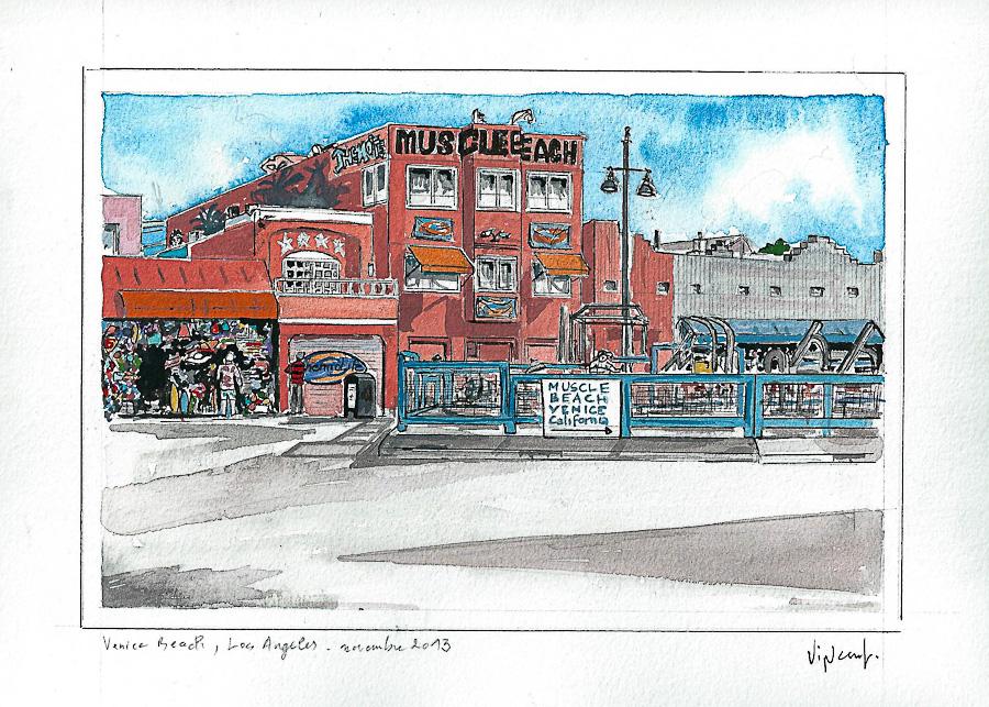 Aquarelle #4 - Californie