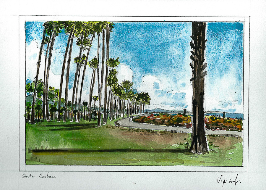 Aquarelle #11 - Californie