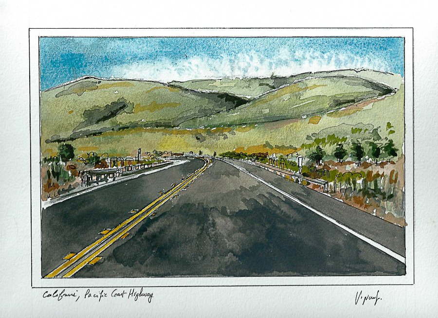 Aquarelle #12 - Californie