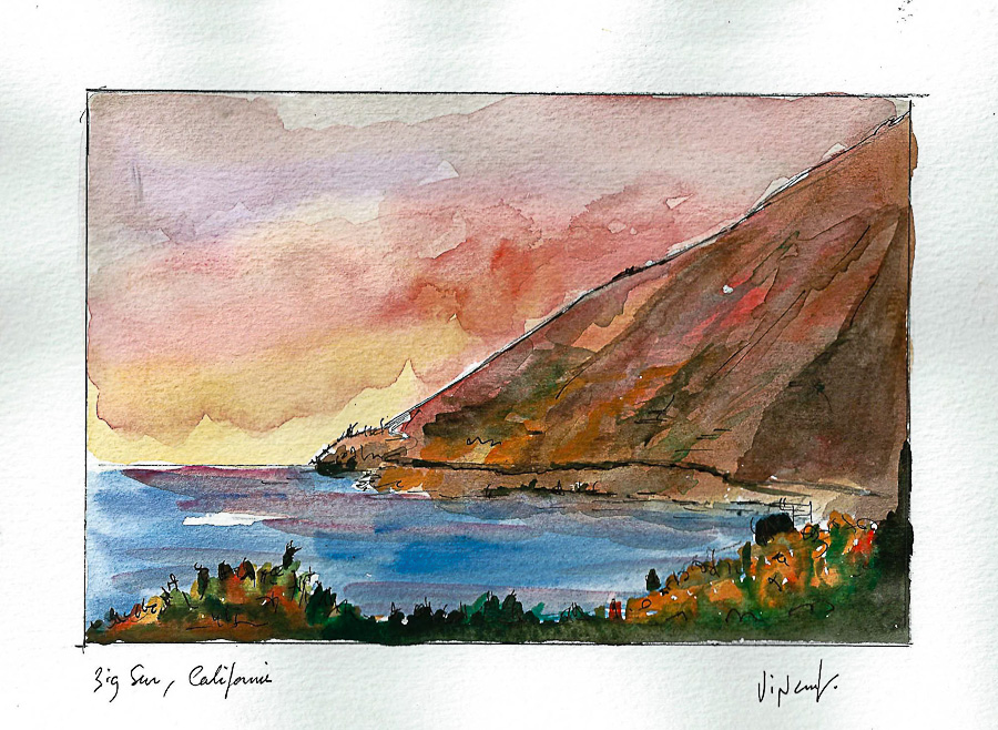 Aquarelle #15 - Californie