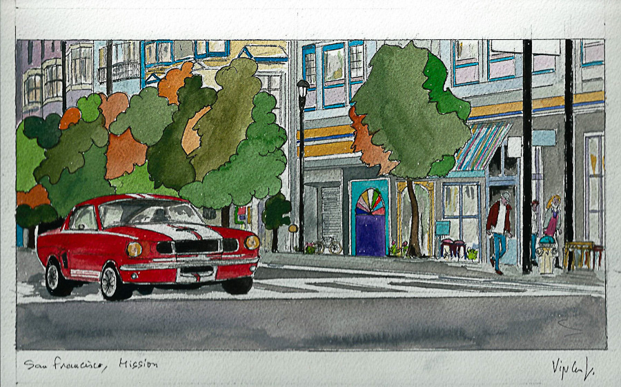 Aquarelle #17 - Californie