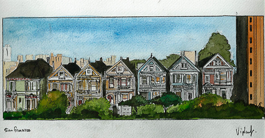 Aquarelle #19 - Californie